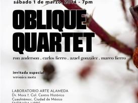 Oblique Quartet: Improvisación explosiva