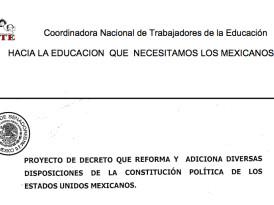 Reforma educativa: propuesta del Ejecutivo vs. propuesta de la CNTE