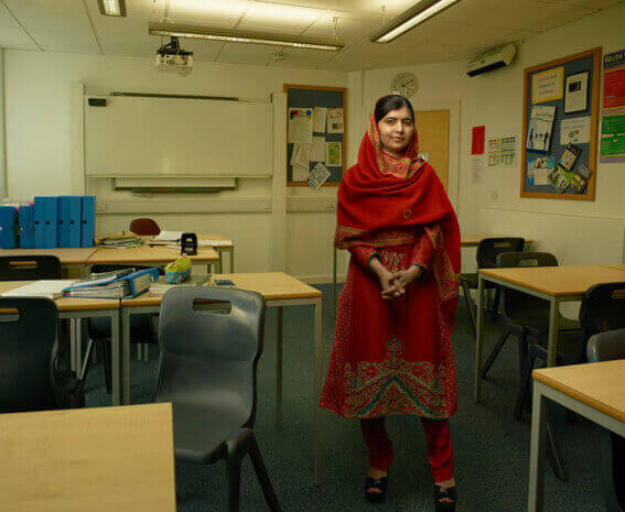 Malala Yousafzai, Birmingham, England, 2015 © Annie Leibovitz from WOMEN: New Portraits