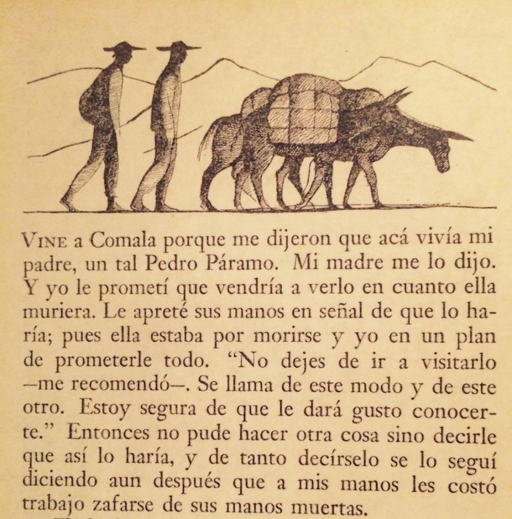 Primera página de Pedro Páramo.