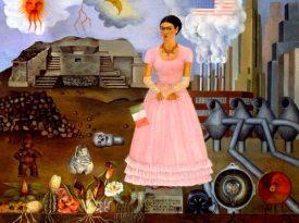 Las pinturas de Frida Kahlo: Autorretrato en la frontera entre México y Estados Unidos