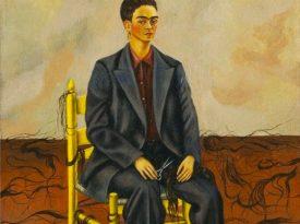 Las pinturas de Frida Kahlo: Autorretrato con pelo corto