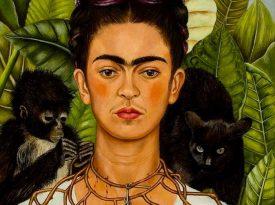 Las pinturas de Frida Kahlo: Autorretrato con collar de espinas