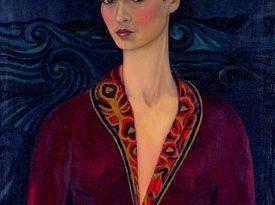 Las pinturas de Frida Kahlo: Autorretrato con traje de terciopelo