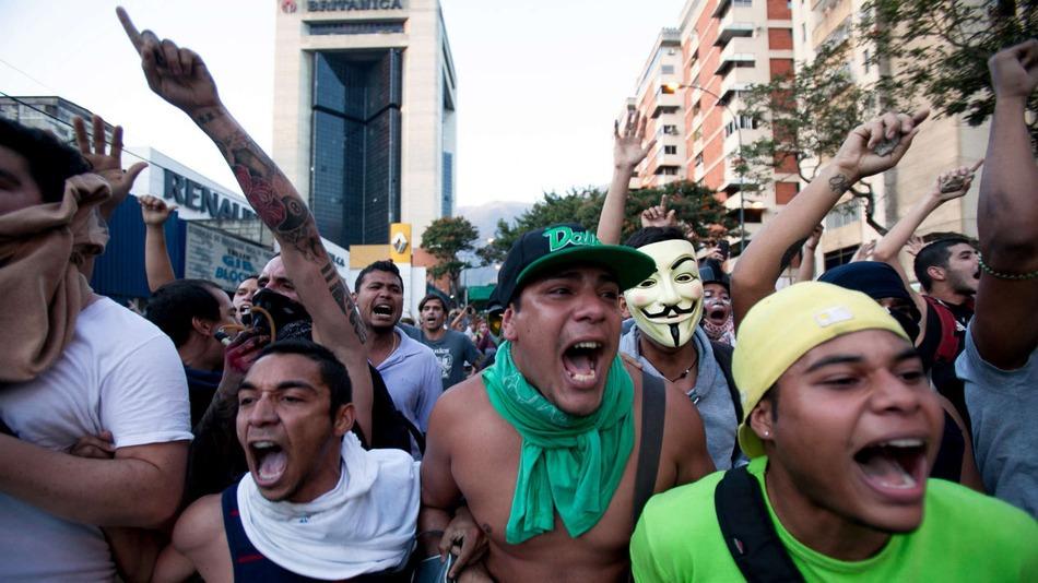 Protestas estudiantiles en Venezuela.